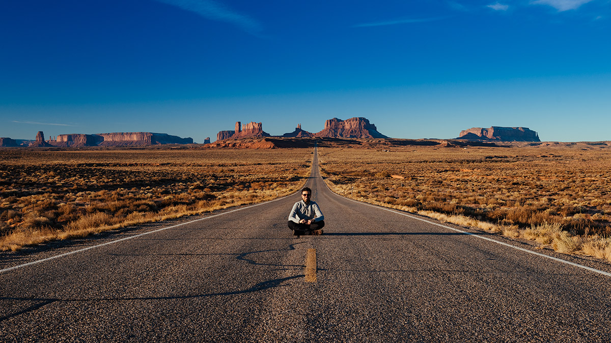 Stefano Viola in the Monument Valley