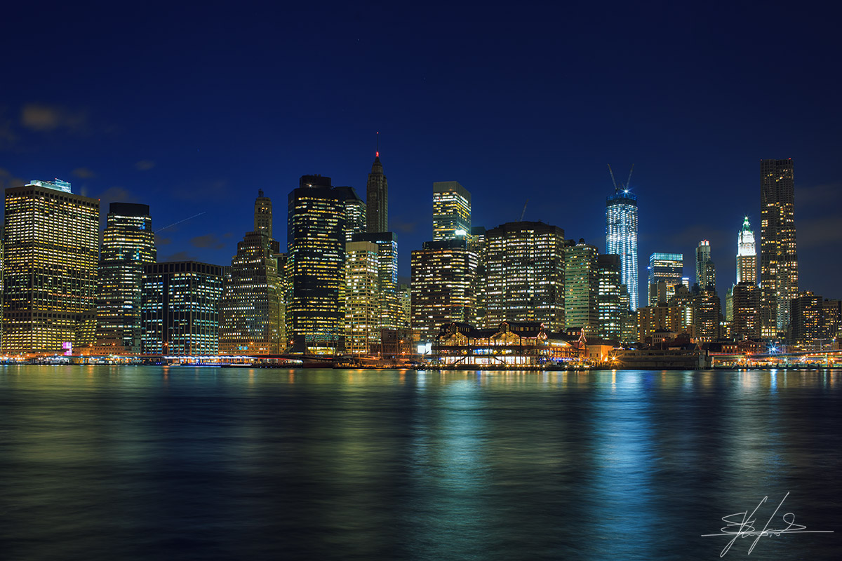 Manhattan night lights