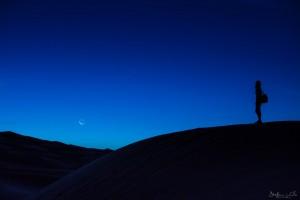 Night in the sahara desert