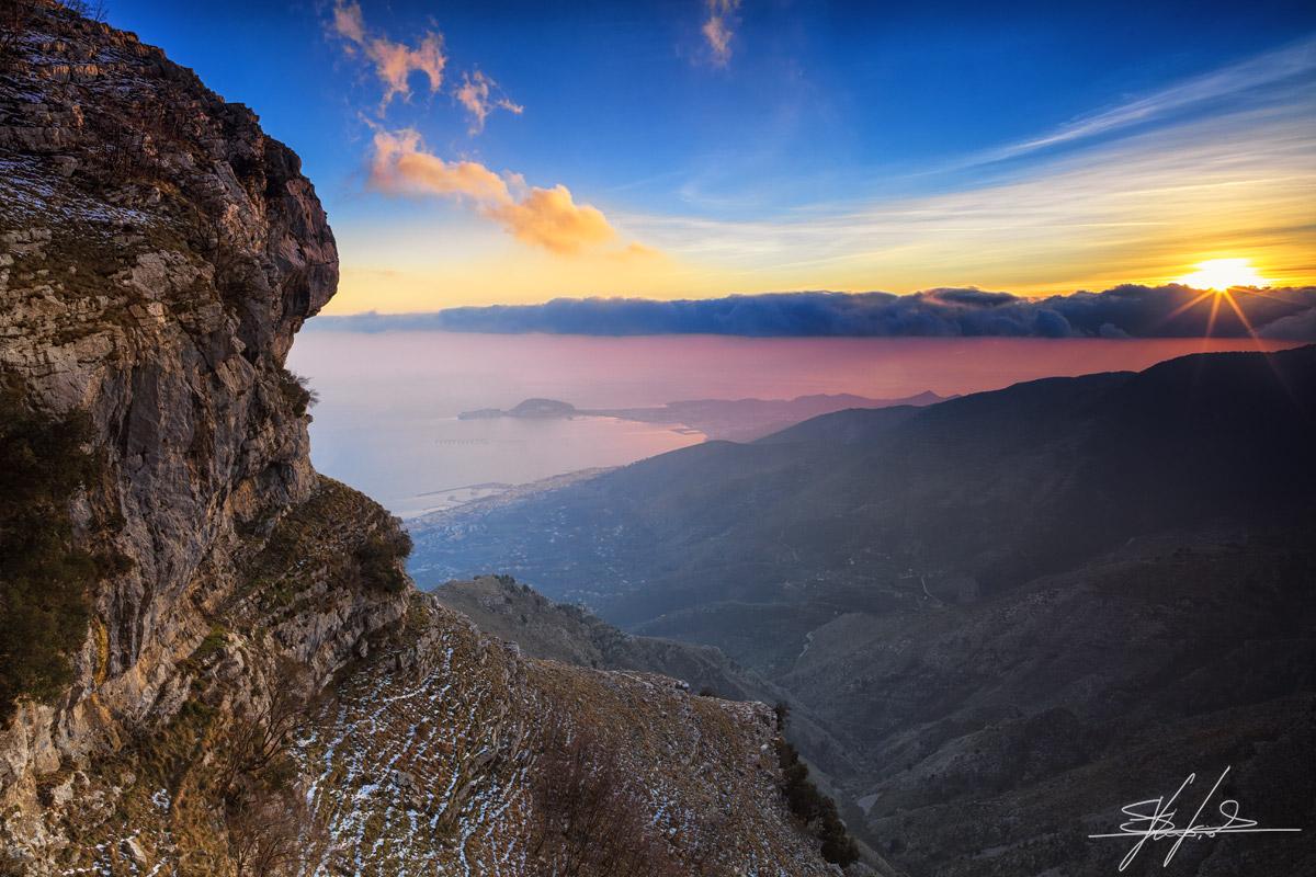 Gaeta, tramonto dal Redentore