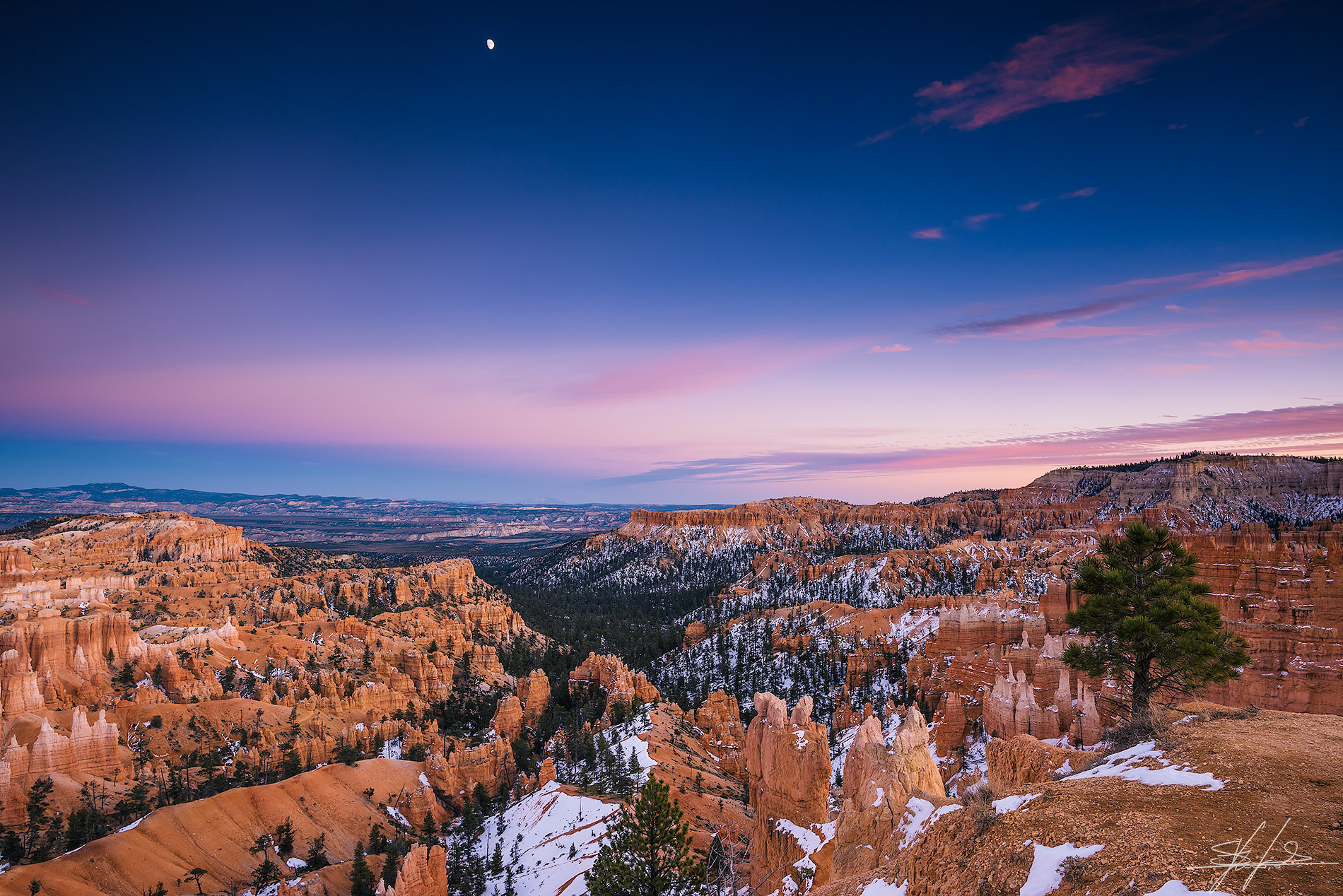 Blue hour at Bryce Canyon