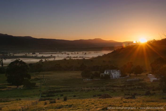 Sunrise over Bushy Park - Tasmania