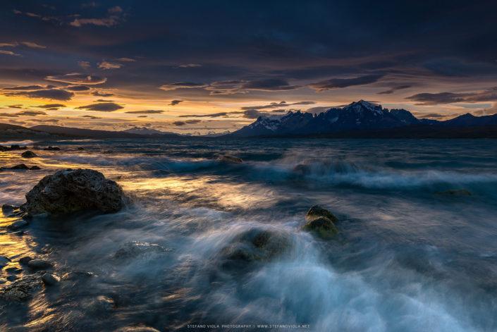 Sunset at Lago Sarmiento