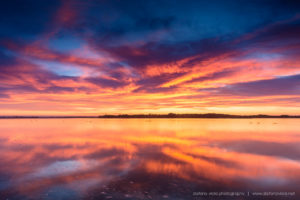 Sunrise at the Swan's lake in Kangaroo Island