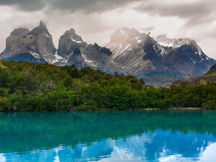 Morning reflections at Torres del Paine