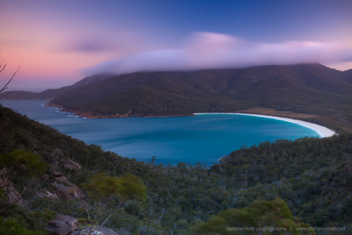 Wineglass Bay at sunset - Tasmania