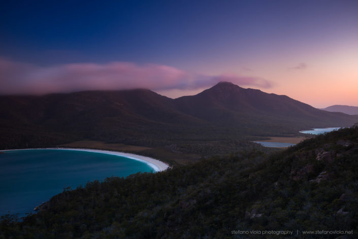 Wineglass Bay at sunset - Tasmania