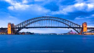 Blue hour over the Harbour Bridge & Opera House