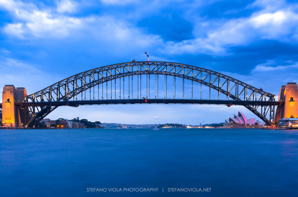 Blue hour over the Harbour Bridge & Opera House