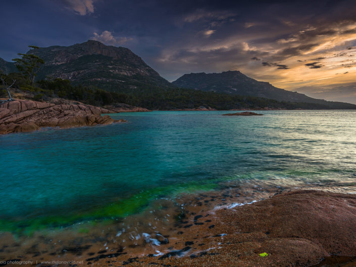 Sunset at Freycinet National Park - Tasmania